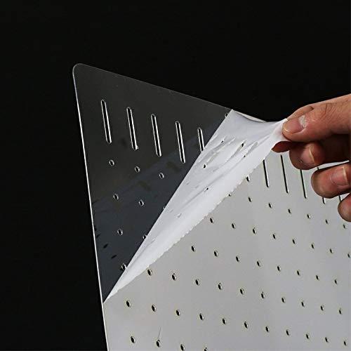 DIY Designed Clear (mit weißem Schutzfilm) Leicht zu biegen, für die meisten Fischtanks zu schneiden und zu kombinieren (Saugnapf muss einzeln gekauft Werden) (30 cm * 30 cm) (30cm 30cm)