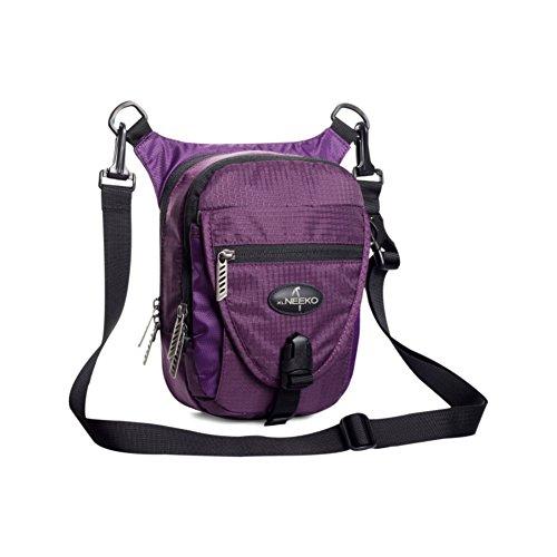 Verticale all'aperto sport borse per uomini e donne/ impermeabile Messenger bag/ grande capacità ultra leggero zaino in spalla-verde porpora