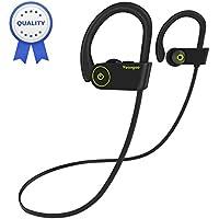 Auricolare Bluetooth HolyHigh Yuanguo2 Best cuffie sportive resistenti all'acqua Waterproof standard IPX7 senza fili con Microfono con auricolari stereo HD antitraspiranti adatte a lavoro in palestra durata batterie 8 ore cuffie anti-rumore con cancellazione del rumore esterno
