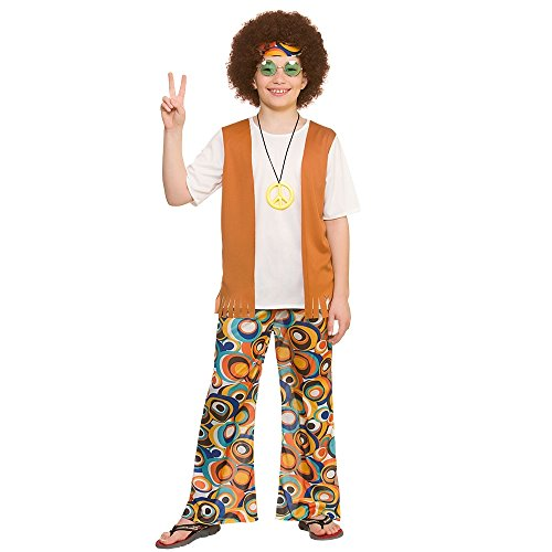 Cool Hippie Kostüm für Jungen (8-10 ()