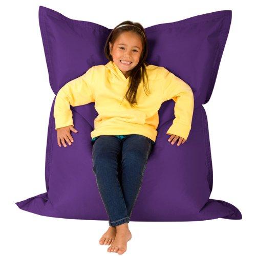 Hi Kids Bagz Sitzsack 4-Wege-– Liege, violett Sitzsäcke Outdoor Sitzkissen–100% Wasserabweisend Sitzsack für Kinder