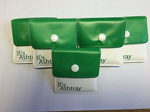 Preisvergleich Produktbild My Ashtray 5 Taschen-Aschenbecher,  Grun / Weiß