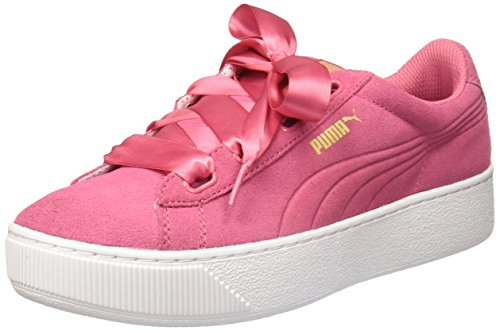 Puma Women's Vikky Platform Ribbon Pink Sneakers - 7 UK/India (40.5 EU)(36497902)