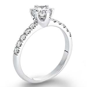 Solitaer Diamantring - 18k Round mit EGL Zertifikat 0.78 Karat