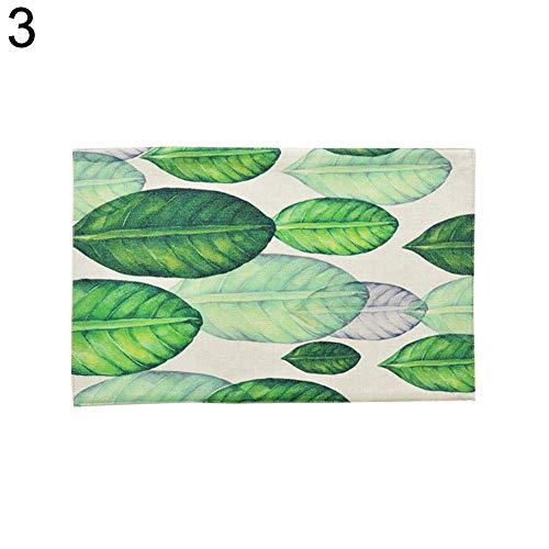 osmanthusFrag Teppich, frische Pflanzen, Leinen, Baumwolle, isolierend, Rutschfest, Küchenzubehör 3# -