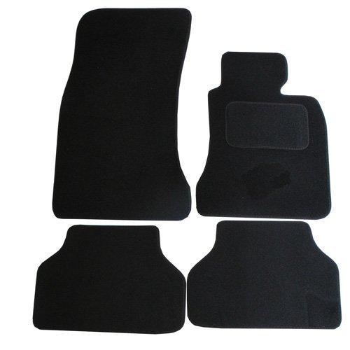 JVL 1028 Alfombrillas para Coche, 4 Unidades, Color Negro