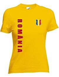 Rumänien Romania Damen T-Shirt Trikot Wunschname Wunschnummer