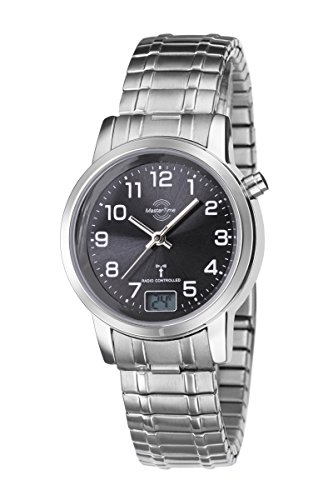 Master Time Funk Basic Series Damenuhr MTLA-10309-22M mit Zugband, Edelstahl-Zugband Armbanduhr Silber