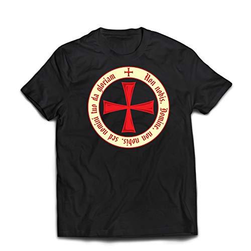 lepni.me Männer T-Shirt Der christliche Ritterorden der Tempelritter, Kreuzritter Kreuz (Large Schwarz Mehrfarben) -