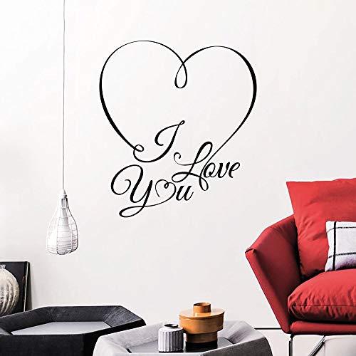Ich liebe dich romantisches Herz Wandaufkleber Zitat Wandbilder Kunst Wohnzimmer Schlafzimmer Dekor moderne stilvolle Startseite dekorative 3d Poste 42 * 47