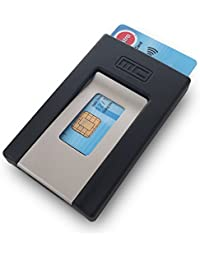 MCPOCKET - Estuche para tarjetas y un clip de dinero en uno.
