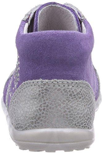 Richter Kinderschuhe  Mini  0025-521, Chaussures souples pour bébé (fille) Violet - Violett (lavender/silver  4001)