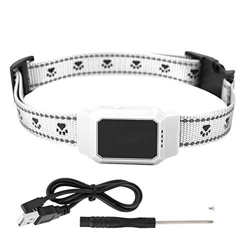 Echtzeit-usb (Pet GPS Tracker Wasserdichte GPS Hunde Katzen Echtzeit Locator Pet Tracking Collar Hund Echtzeit Tracking Collar Sicherheitssucher Locator USB Aufladung Smart Pet GPS Locator (Weiß))