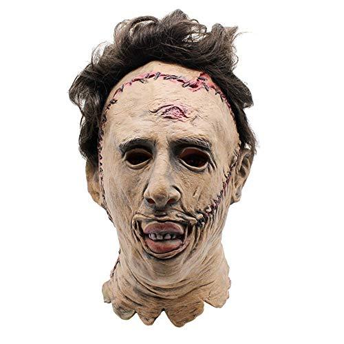 ZXFC Halloween Neuheit Maske Texas Kettensäge Massaker Kostüm Maske Party Requisiten Maske Creepy Latex Kopf Maske for Männer (Kettensägen Massaker Kostüm)