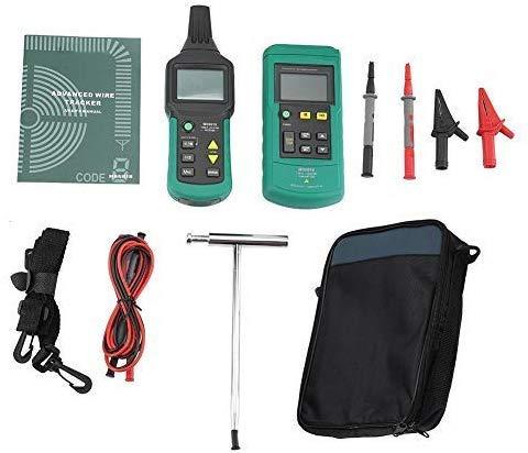 Digital Leitungssuchgerät, MS6818 12V-400V AC/DC Untertagedraht Kabelsuchgerät Metallrohrdetektor Tester Linie Tracker Kabelortungsgerät Leicht Kabel Finder (Ohne Akku)