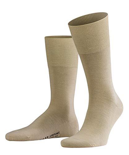 Preisvergleich Produktbild FALKE Herren Airport Woll- / Baumwoll Strümpfe Einfarbig Business Socken,  Blickdicht,  Sand,  39-40