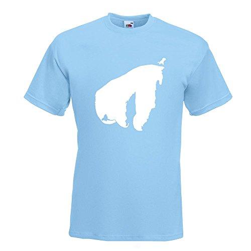 KIWISTAR - Poel - Deutschland - Insel T-Shirt in 15 verschiedenen Farben - Herren Funshirt bedruckt Design Sprüche Spruch Motive Oberteil Baumwolle Print Größe S M L XL XXL Himmelblau