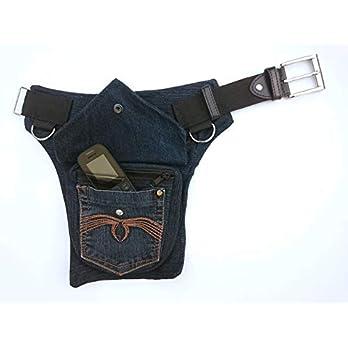 Hüfttasche hergestellt aus eine duenkelblaue recyclede Jeans, bei Hipsypixie
