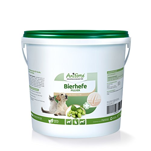 AniForte reine Bierhefe 1 kg - versch. Größen - Naturprodukt für Hunde, Katzen und Pferde