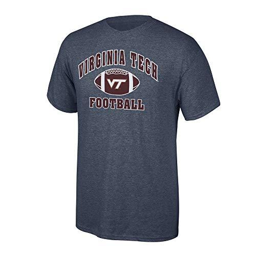 Elite Fan Shop NCAA Men's Virginia Tech Hokies Football T-shirt Dark Heather Virginia Tech Hokies Dark Heather Large Virginia Tech Hokies Football