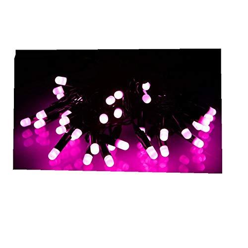 ODJOY-FAN 5.3M Wasserdicht LED Weihnachten Zeichenfolge Licht LED Foto Clip Licht Zeichenfolge Weihnachten Hochzeit Festival Dekorativ Licht Beleuchtung String Light (Rosa,1 PC)