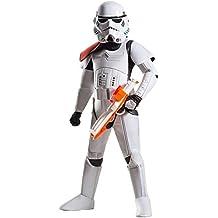 Rubie 's–Disfraz de super Deluxe oficial de Disney Star Wars Stormtrooper, los niños–tamaño grande