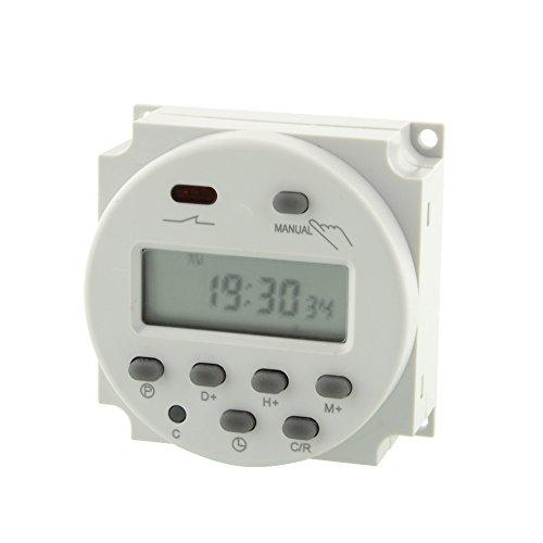 BigFamily Intelligentes elektronisches LCDProgrammierbarer Timer220VDigitaler BildschirmZähle bis zu 168 StundenFür Küche Kühlschrank (Zeitschaltuhren Für Die Außenbeleuchtung)