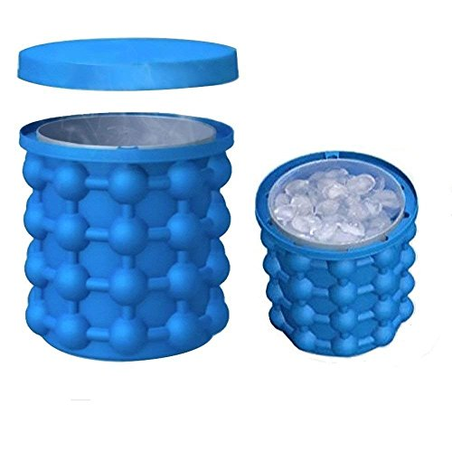 Ice Cube Maker, ice Genie Silikon Ice Cube Tablett Formen Ice Cube Maker mit doppeltem Verwendungszweck Revolutionäre platzsparend