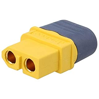 2X XT60H-F Plug DC Supply XT60 Female for Cable soldered Colour Yellow AMASS