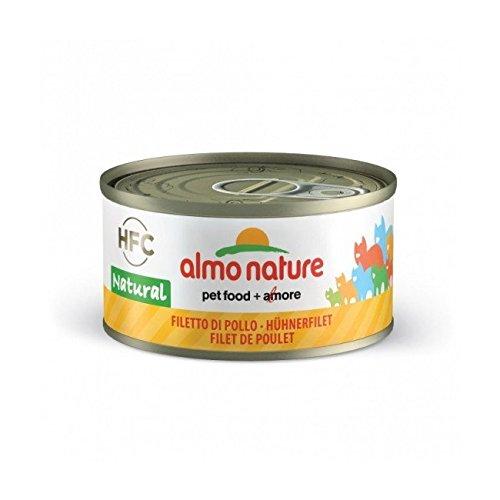 Umido Gatto Almo Nature gr70, con Tonno, Pollo e Formaggio