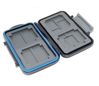 Kaavie - multi custodia contenitore impermeabile in plastica rigida per schede: CompactFlash e microSD / SDHC o Secure Digital / SDHC / SDXC o Memory Stick PRO Duo o xD-Picture Card - Multi Card Case Safe