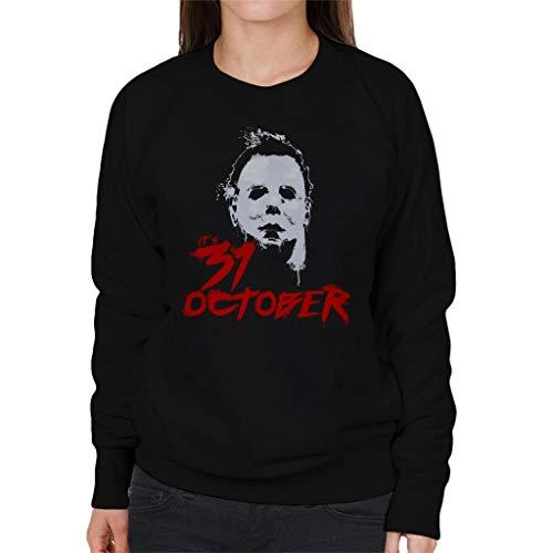 Cloud City 7 Halloween Michael Myers Its 31st October Women's Sweatshirt (Michael Myers Halloween-city)