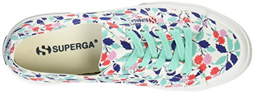 Superga 2750 Fabriclibertyw, Sneakers basses Mixte adulte Red (floral Red Aqua)