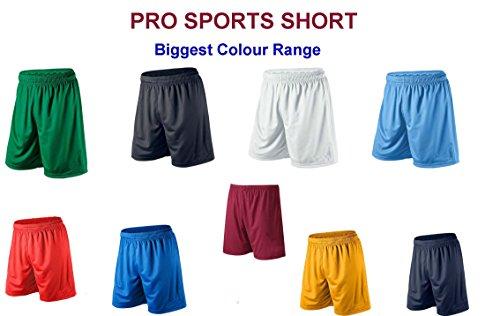 MENS SPORT SHORTS FOOTBALL GYM XS - S - M - L - XL - XXL (Small, Black)