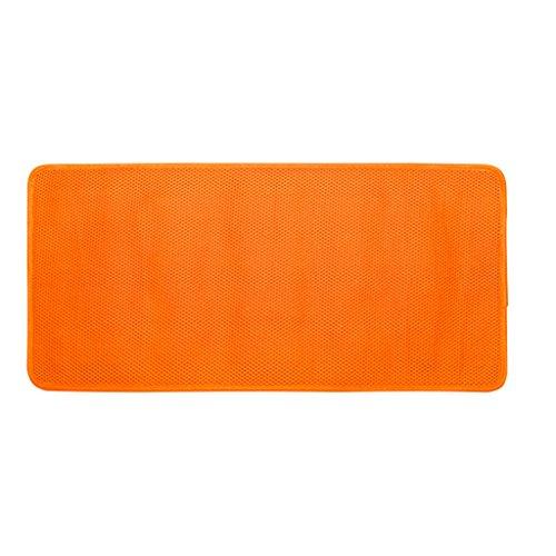 LYJ Tapis de bain 3D Séchage Rapide Non Slip Bath Mat / Facile À Nettoyer Mildiou Antibactérien Mat / Douche Toilette Tapis De Sol (Multicolore Facultatif) Séchage rapide ( Couleur : Orange , taille : 76*43cm )