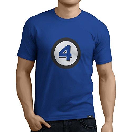 41vPGXeCeqL - Tuning Camisetas - Camiseta Divertida para Hombre - Modelo CuatroFantasticos, Color Azul- Talla M (0185-Azul-Cuatro-Fantasticos-M)