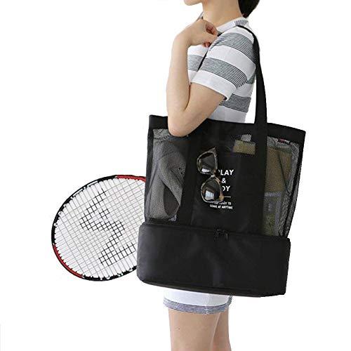 HGDGears Kühltasche Mittagessen tasche Isoliertem Picknickbeutel Schulter tasche Sport Strand Reise für Frauen (schwarz)