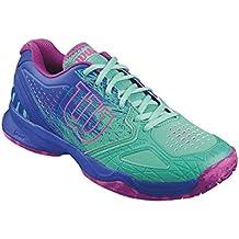 Wilson KAOS COMP W, Zapatillas tenis mujer, juego ofensivo, multiterreno, tejido/