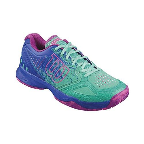 Wilson KAOS COMP W, Damen Tennisschuhe, Mehrfarbig (AQUAGREEN/BLUE IRIS WIL/FANDANGO PINK), 39 EU (5.5 Damen UK)
