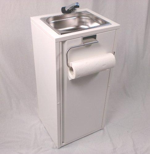 Mobiles Handwaschbecken Waschbecken Verkaufsstand +Papierrollenhalter (ad-ideen)