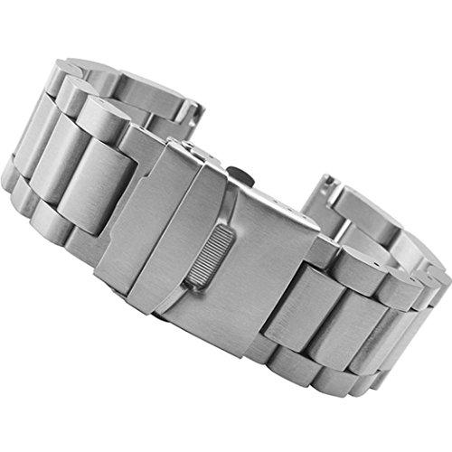 Garmin wtach strap Clode® 26mm Edelstahl Bügel Ersatz-Uhrenarmband für Garmin Fenix 3/ HR (Silber) (Kids Ersatz-uhrenarmband)