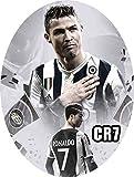Uovo di Pasqua ARTIGIANALE cioccolato al latte Juventus Cristiano Ronaldo CR7 con SORPRESA puoi anche personalizzare l'uovo a tuo piacimento! (350 gr)