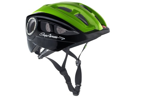URGE - Casco per bici, nero (nero/verde), 57-60 cm