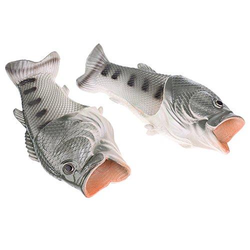 MagiDeal Damen Herren Hausschuhe Pantoffeln lässige Schuhe Fun-Bekleidung Grün Gelb schwarz - Schwarz, (März Herr Kostüm)