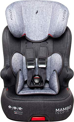 Osann Mambo Isofix, Kinderautositz Gruppe 1/2/3 (9-36 kg), Black Melange