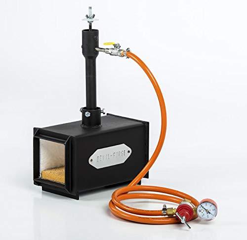 Forja de gas propano, fabricación de cuchillos, Herrero, horno, quemador | DFPROF1...