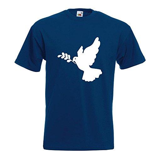 KIWISTAR - Friedenstaube T-Shirt in 15 verschiedenen Farben - Herren Funshirt bedruckt Design Sprüche Spruch Motive Oberteil Baumwolle Print Größe S M L XL XXL Navy