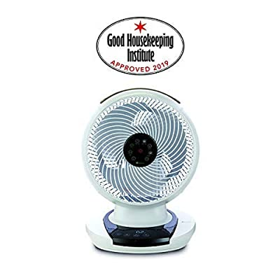 Meaco MeacoFan Air Circulator, Bedroom, Desk Fan, Low Noise, Energy efficient, Whole Room Cooling, White [Energy Class A]