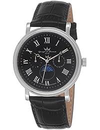 Yonger & Bresson HCC 1685/01 - Reloj de pulsera hombre, piel, color negro