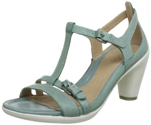 Ecco 237043, bout ouvert femme Turquoise (Ice Flower 01400)